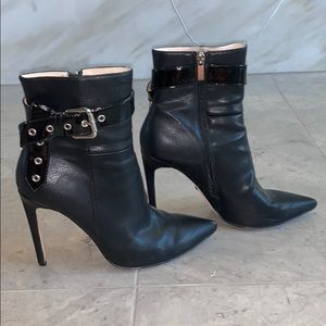 RAYE Buckle Black Ankle Boots - 39